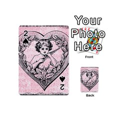 Heart Drawing Angel Vintage Playing Cards 54 (mini)