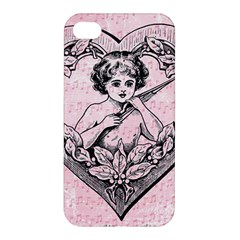 Heart Drawing Angel Vintage Apple Iphone 4/4s Hardshell Case