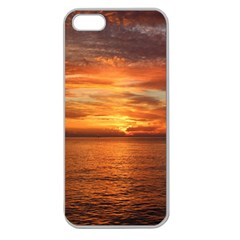Sunset Sea Afterglow Boot Apple Seamless Iphone 5 Case (clear) by Nexatart