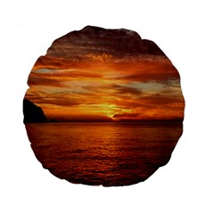 Sunset Sea Afterglow Boot Standard 15  Premium Round Cushions by Nexatart