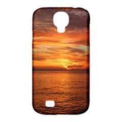 Sunset Sea Afterglow Boot Samsung Galaxy S4 Classic Hardshell Case (pc+silicone) by Nexatart