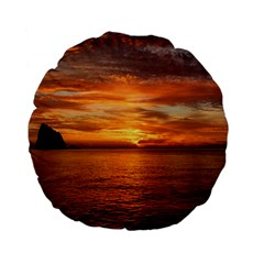 Sunset Sea Afterglow Boot Standard 15  Premium Flano Round Cushions by Nexatart