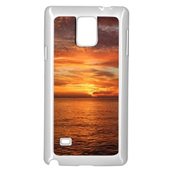 Sunset Sea Afterglow Boot Samsung Galaxy Note 4 Case (white) by Nexatart