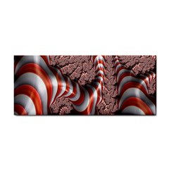 Fractal Abstract Red White Stripes Cosmetic Storage Cases by Nexatart