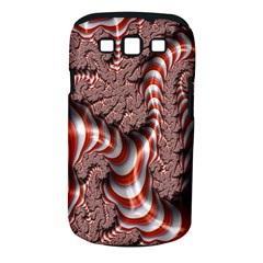 Fractal Abstract Red White Stripes Samsung Galaxy S Iii Classic Hardshell Case (pc+silicone)