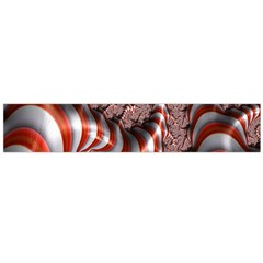 Fractal Abstract Red White Stripes Flano Scarf (large) by Nexatart