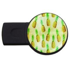 Pineapple Wallpaper Vintage Usb Flash Drive Round (4 Gb)