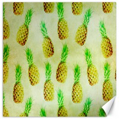 Pineapple Wallpaper Vintage Canvas 16  X 16   by Nexatart