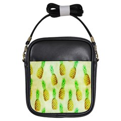 Pineapple Wallpaper Vintage Girls Sling Bags