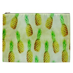 Pineapple Wallpaper Vintage Cosmetic Bag (xxl)  by Nexatart
