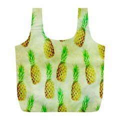 Pineapple Wallpaper Vintage Full Print Recycle Bags (l)  by Nexatart