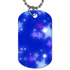 Star Bokeh Background Scrapbook Dog Tag (one Side) by Nexatart