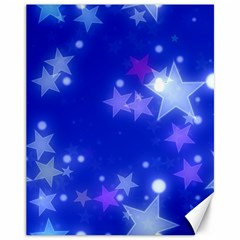 Star Bokeh Background Scrapbook Canvas 11  X 14   by Nexatart