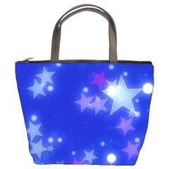 Star Bokeh Background Scrapbook Bucket Bags