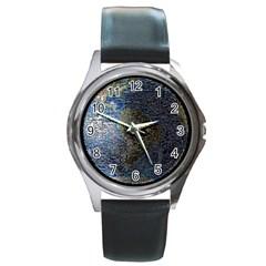 World Mosaic Round Metal Watch by Nexatart