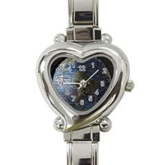 World Mosaic Heart Italian Charm Watch