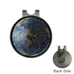 World Mosaic Hat Clips With Golf Markers by Nexatart