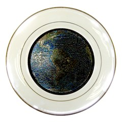 World Mosaic Porcelain Plates