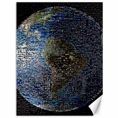 World Mosaic Canvas 36  X 48