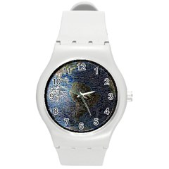 World Mosaic Round Plastic Sport Watch (m) by Nexatart