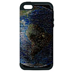 World Mosaic Apple Iphone 5 Hardshell Case (pc+silicone) by Nexatart