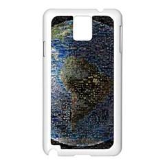 World Mosaic Samsung Galaxy Note 3 N9005 Case (white)