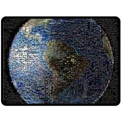 World Mosaic Double Sided Fleece Blanket (large)  by Nexatart