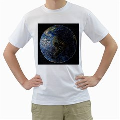 World Mosaic Men s T Shirt (white)
