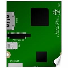 Raspberry Pi 3 Vector Canvas 8  X 10  by Nexatart