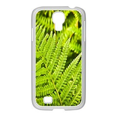 Fern Nature Green Plant Samsung Galaxy S4 I9500/ I9505 Case (white) by Nexatart