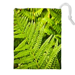 Fern Nature Green Plant Drawstring Pouches (xxl)