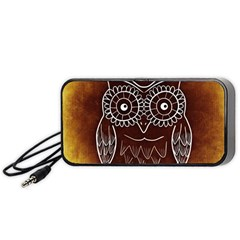 Owl Abstract Funny Pattern Portable Speaker (black) by Nexatart