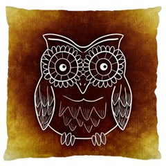 Owl Abstract Funny Pattern Large Cushion Case (one Side)