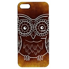 Owl Abstract Funny Pattern Apple Iphone 5 Hardshell Case With Stand