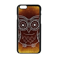 Owl Abstract Funny Pattern Apple Iphone 6/6s Black Enamel Case