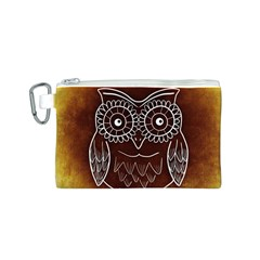 Owl Abstract Funny Pattern Canvas Cosmetic Bag (S) by Nexatart