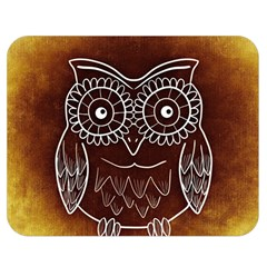 Owl Abstract Funny Pattern Double Sided Flano Blanket (medium)
