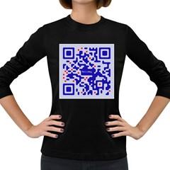 Qr Code Congratulations Women s Long Sleeve Dark T Shirts