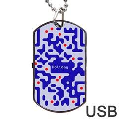 Qr Code Congratulations Dog Tag Usb Flash (two Sides)