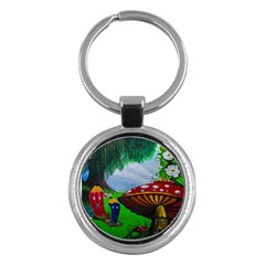 Kindergarten Painting Wall Colorful Key Chains (round)
