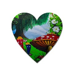 Kindergarten Painting Wall Colorful Heart Magnet by Nexatart