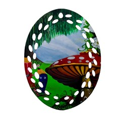 Kindergarten Painting Wall Colorful Ornament (oval Filigree) by Nexatart