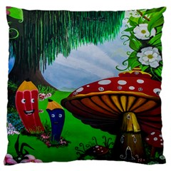 Kindergarten Painting Wall Colorful Large Cushion Case (one Side)