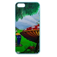 Kindergarten Painting Wall Colorful Apple Seamless Iphone 5 Case (color)