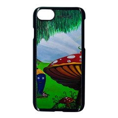Kindergarten Painting Wall Colorful Apple Iphone 7 Seamless Case (black) by Nexatart