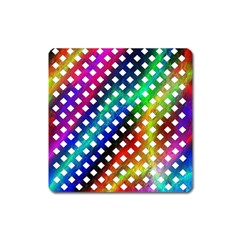Pattern Template Shiny Square Magnet