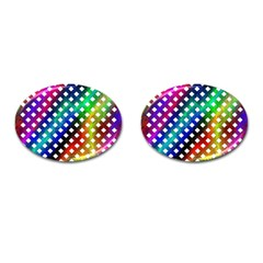 Pattern Template Shiny Cufflinks (oval)