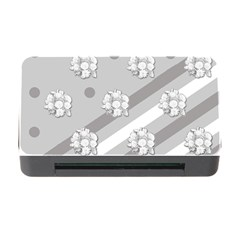 Stripes Pattern Background Design Memory Card Reader With Cf
