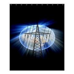 Energy Revolution Current Shower Curtain 60  X 72  (medium)  by Nexatart