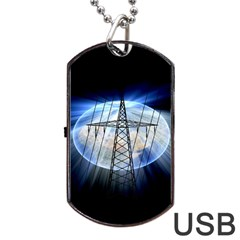 Energy Revolution Current Dog Tag Usb Flash (two Sides) by Nexatart